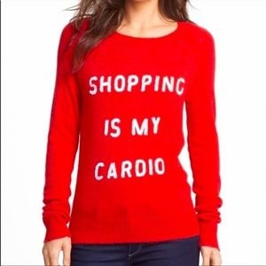 Wildfox White Label Shopping Is My Cardio Sweater